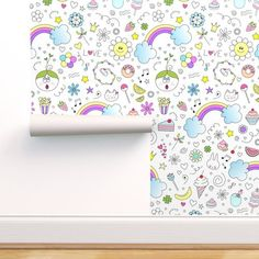 Doodles Sweets and lots of Joy Jumbo - Spoonflower Paper Clip Art, Simple Rules, Digital Papers, As You Like, Custom Fabric, Spoonflower, My Etsy Shop, Doodles, Sweets