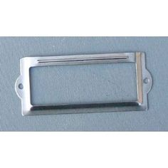 10 Nicke. Plated Card Holders 3-1/2x1-1/2 Inches W/#2x1/4 Nickel Plated Screws $12.49