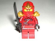 ULEGO Ninjago Kai ZX Red Ninja Minifigur e Minifig w/ Armor and Katana 9449 $9.99