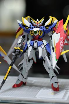 HG & MG Gundam Fenice Rinascita - Painted Build     Modeled by kradmesser