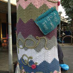 Yarn bombing at Coburg Mall