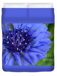 """Blue Cornflower Queen (88"""" x 88"""") Duvet Cover"""