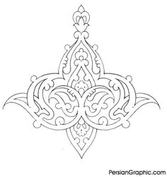 Persian Design 17 Would be pretty stenciled on dining room ceiling Islamic Art Pattern, Pattern Art, Pattern Design, Persian Pattern, Persian Motifs, Turkish Art, Calligraphy Art, Colouring Pages, Line Art