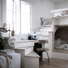 연극 무대같은 원룸, 영감을 주는 작은집 Compact Living Gothenburg Interiors : Torsten Ottesj&ou...