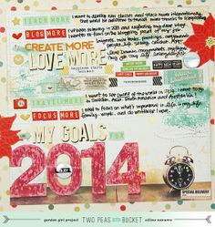 My Goals for 2014 - 213 in 2013 - my new video for @2Psinabucket #scrapbook #tutorial #twopeas