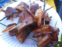 Bacon-Wrapped Shrimp With Chipotle Barbecue Sauce Recipe