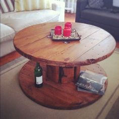 Wire spool table. Had one on the porch at Camp Flounder 35 years ago. Would love to have one on our future deck.