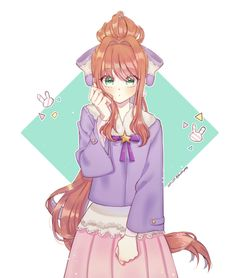 Just Monika [Doki Doki Literature Club] Oki Doki, Cute Games, Awesome Games, Psychological Horror, Imagenes My Little Pony, Chibi, Literature Club, Best Waifu, Fanart