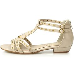 New Womens Low Heels Fashion Summer Ankle Strap Sandle Shoes Beige 5 * You can get more details by clicking on the image.(This is an Amazon affiliate link and I receive a commission for the sales)