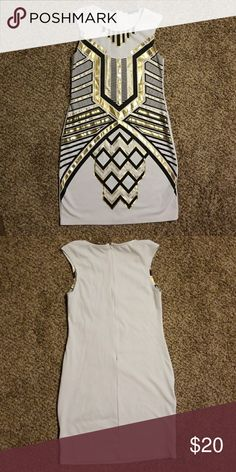Host Pick! 🎊 Iner White Gold & Black Dress Iner White Gold & Black Dress Iner Dresses Mini
