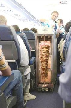 Meanwhile in Turkish Airlines If this were true, I'd be there in a heart beat. Love me some Turkish kebabs. Satire, Airline Humor, Airline Meal, Flight Attendant Humor, Aviation Humor, Turkish Airlines, Meanwhile In, Turkish Recipes, Creative Food