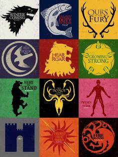 Song of Ice and Fire banners by ~Nekromantics on deviantART