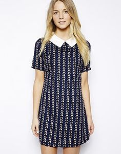 Image 1 ofMax C Shift Dress with Collar