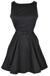 Holly Golightly Black Fit and Flare dress - lilyboutique