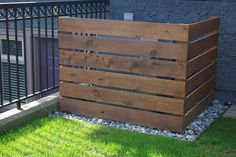 Wooden cover for air conditioner condenser