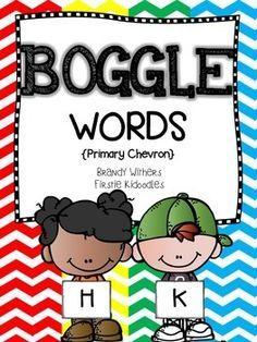 BOGGLE Words {Primary Chevron}