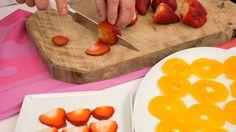 Carpaccio de naranja y fresa - Paso 1