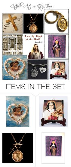 """Religious Art on Etsy by TerryTiles2014 - Volume 276"" by terrytiles2014 on Polyvore featuring arte, etsy, christian, art e catholic"