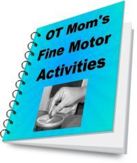 OT Mom's E-book contains fun and easy ideas for strengthening your child's fine motor skills!