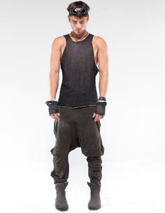 Post Apocalyptic Fashion, Cotton Vest, Unisex Fashion, Yin Yang, Sporty, Costumes, My Style, Gas Station, Androgynous