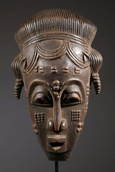 Africa | Mask from the Kulango people of north east Ivory Coast | Wood