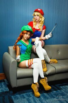 #Cosplay: #Rule63 #Mario brothers by Davin Da Lil Azn's Cosplay & Photography's