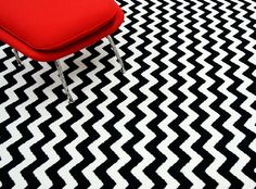 Rugs USA black and white chevron rug.