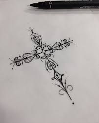 Impressive Back Tattoo Designs That Are Cool Masterpieces - Page 162 of 200 - CoCohots Forearm Tattoos, Body Art Tattoos, New Tattoos, Small Tattoos, Small Cross Tattoos, Flower Tattoos, Tatoos, Pretty Cross Tattoo, Pretty Tattoos