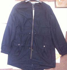 New - South Womens Zip Through Black Mac Jacket Size 16 - RRP £47.00