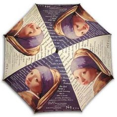 """""""Girl with a pearl earring""""long size automatic umbrella History Class, Art History, Girl With Pearl Earring, Automatic Umbrella, Johannes Vermeer, Dutch Painters, Umbrellas, Robin, Pearl Earrings"""