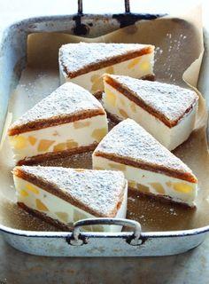 Ricotta & Pear Cake. Sub pectin for gelatin?