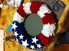 4th of July wreath with felt