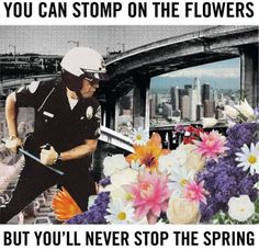 """""""They may crush the flowers, but they can't stop the Spring."""" Alexander Dubcek, Prague Spring 1968"""