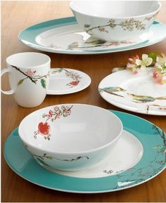 "I'm not ""into"" china patterns, but this one has stolen my heart. <3 Lenox Chirp"