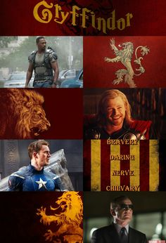 Avengers in their correct houses!