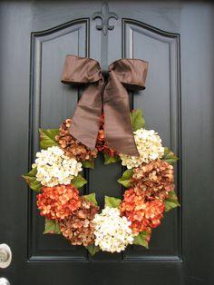 Fall Wreaths Autumn Wreaths WREATHS Shabby Chic by twoinspireyou, $85.00