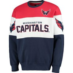 Men s G-III Extreme Navy Washington Capitals Supreme Crewneck Fleece  Sweatshirt Hockey Outfits 3407691a2