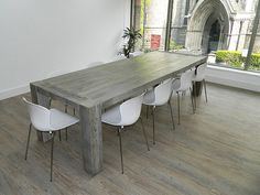 Grand Dining Table Handmade From British Reclaimed by Eatsleeplive