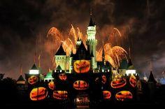 Disneyland during Halloween season