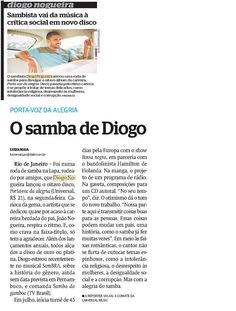 #DiogoNogueira #PortaVozdaAlegria Diário de Pernambuco 2015