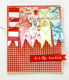 Christmas card inspiration created using our Sleigh Ride Collection #cratepaper #Christmas