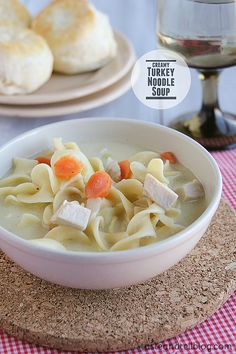 The perfect leftover soup, this Creamy Turkey Noodle Soup is ideal for Thanksgiving leftovers, but is a great way to use up leftover chicken, as well! Welcome to Taste and Tell Thursdays! Don't forget to link up your TURKEY posts below for a chance to win a $100 Amazon.com gift card!!  Don't let the...