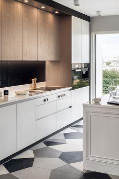 Aranżacja kuchni - połączenie klasyki z nowoczesnością Custom Kitchens, Bespoke Furniture, Wooden Kitchen, Kitchen Cabinets, House, Home Decor, Custom Furniture, Timber Kitchen, Kitchen Cupboards