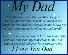 Memorial Poems for Dad | my dad my father is a man like no other he gave me life nurtured me ...