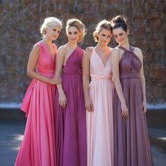 Vestido de madrinha rosa para casamento - madrinha-de-casamento - vestido madrinha rosa 2 190x190
