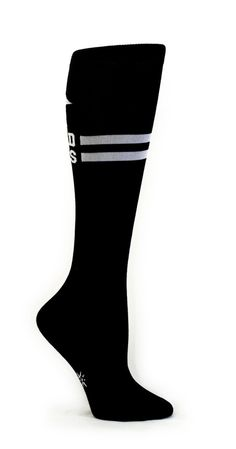 Bad Ass Black and White Knee Socks @Kimberly Kelley I think these need to added to our outfits as well!