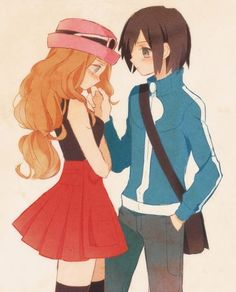Calem and Serena: Pokemon X and Y.