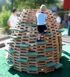 No space for a jungle gym? You don't need much space for a playhive. Originally designed by thoughtbarn, the PlayHive is a playground struct...