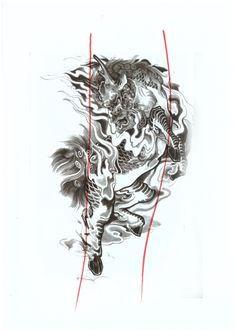 Asian Tattoos, Japanese Tattoos, Foo Dog, Asian Style, Abstract, School, Dogs, Artwork, Traditional