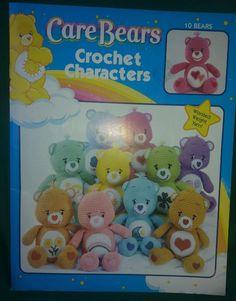 Care Bears Crochet Characters Leisure Arts American Greetings 2004 Pattern Book  #LeisureArts